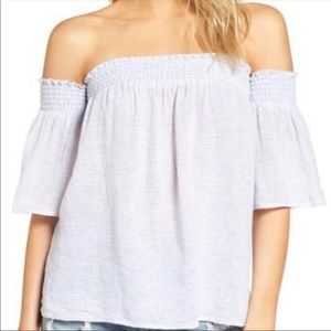 Rails Isabelle Striped Off The Shoulder Blouse - M